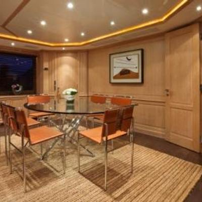 African Queen Yacht Dining on Main Deck
