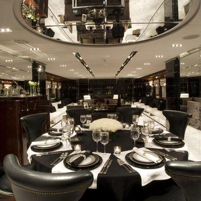 Bliss Yacht Main Salon Dining