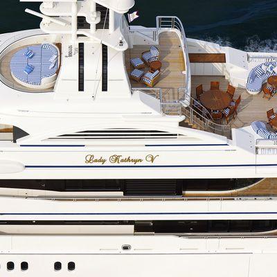 Lady Kathryn V Yacht Running Shot - Overhead