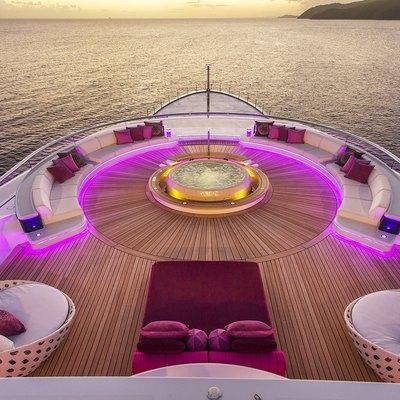 Solandge Yacht Jacuzzi On The Aft Deck
