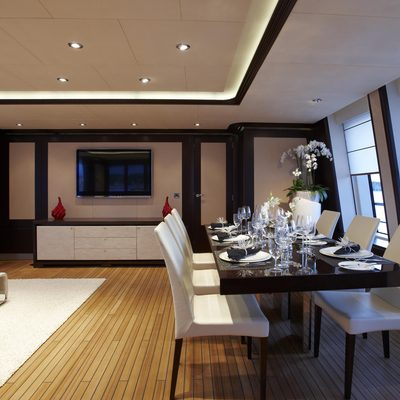 Megan Yacht Dining Salon & Seating