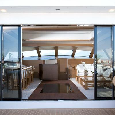 Namaste 8 Yacht View into Skylounge