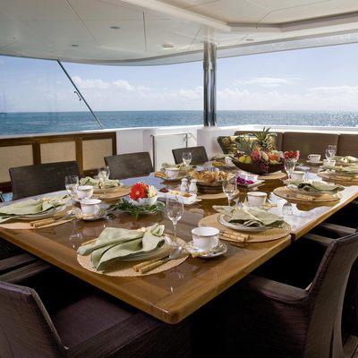 Perle Bleue Yacht Main Deck Aft