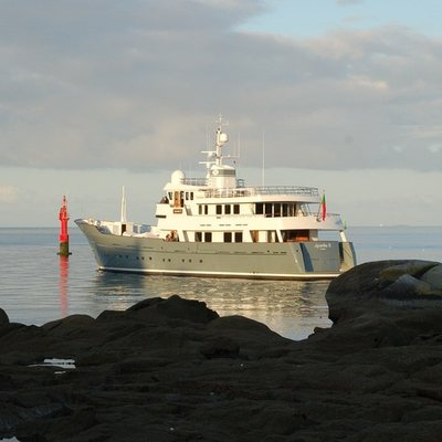 Axantha II Yacht View from Shore