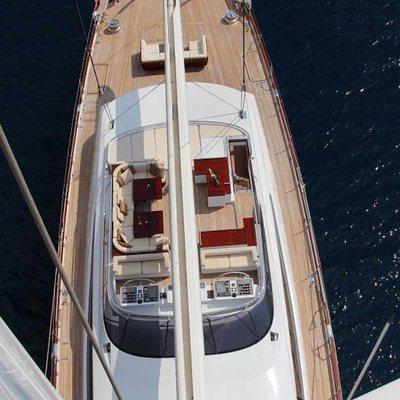Prana Yacht Sun deck from the mast