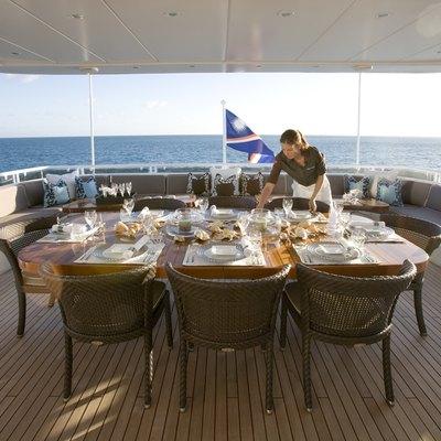 Envy Yacht Aft Deck