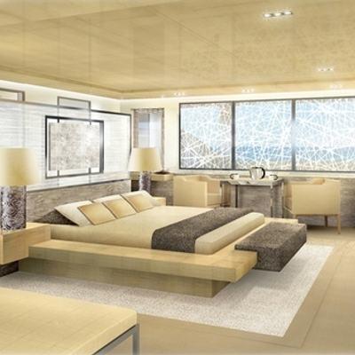 La Pellegrina I Yacht Artist's Impression - Master Stateroom