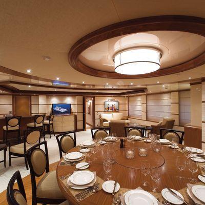 Princess Iolanthe Yacht Dining Table