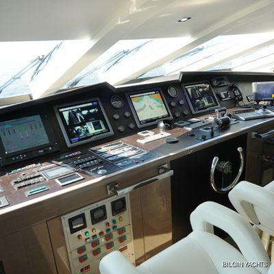 RL Noor Yacht Pilothouse