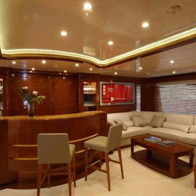 Harmony III Yacht Upper Salon Bar