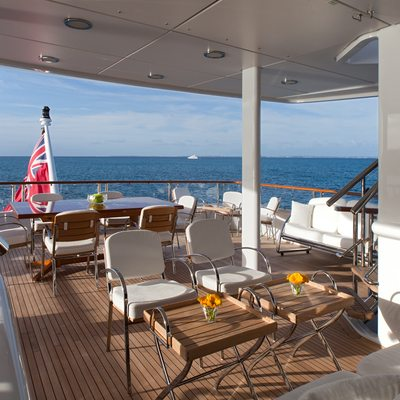 Sunrise Yacht Aft Deck Seating