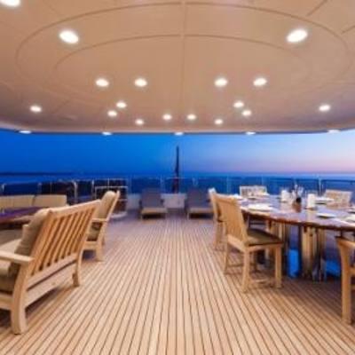 African Queen Yacht Sunset