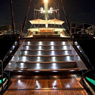 Prana Yacht Deck at Night