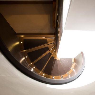 Namaste 8 Yacht Staircase