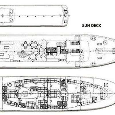 Sea Crown Yacht Deck Plans