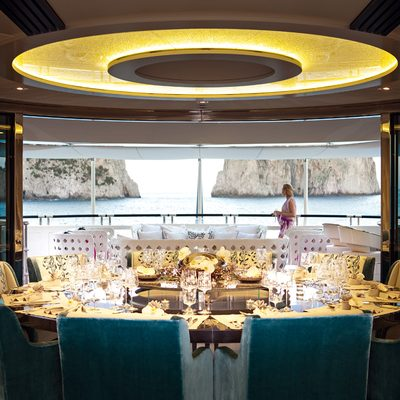 Quite Essential Yacht Dining Salon - Table View