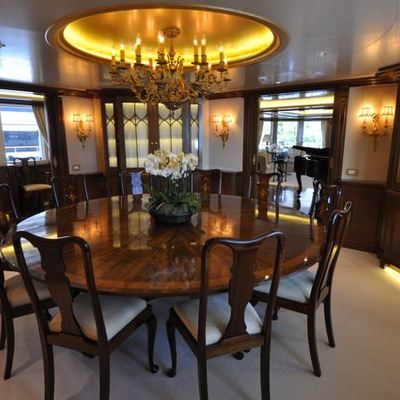 Lady Kathryn V Yacht Dining
