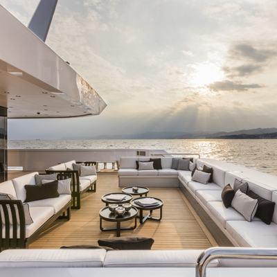 Suerte Yacht Outdoor Seating Aft