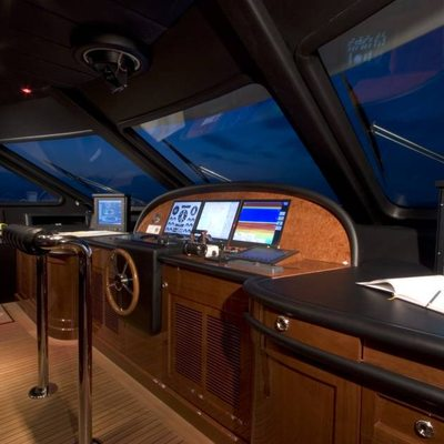 Aura Yacht Pilothouse