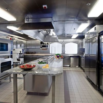 Force Blue Yacht Galley