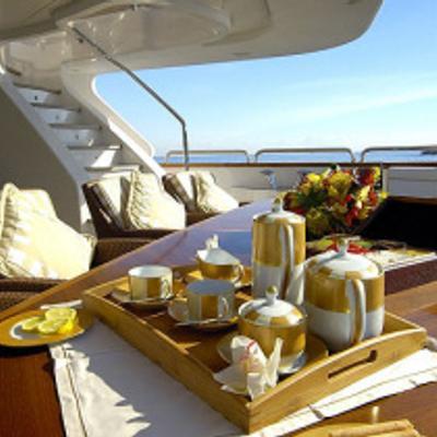 Aura Yacht Aft detail