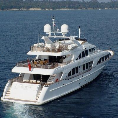 Aura Yacht Running Shot - Stern
