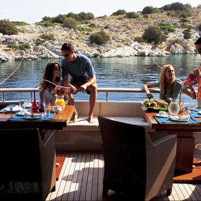 Kintaro Yacht Aft deck