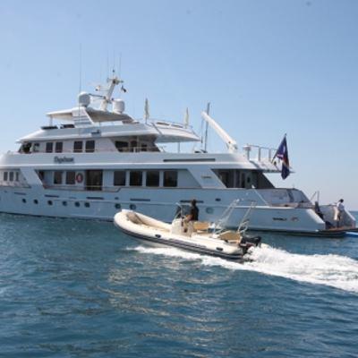 Daydream Yacht Running Shot with Tender