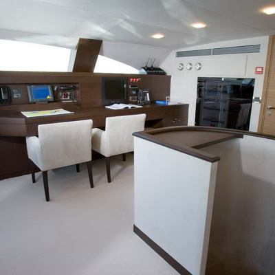 Namaste 8 Yacht Pilothouse