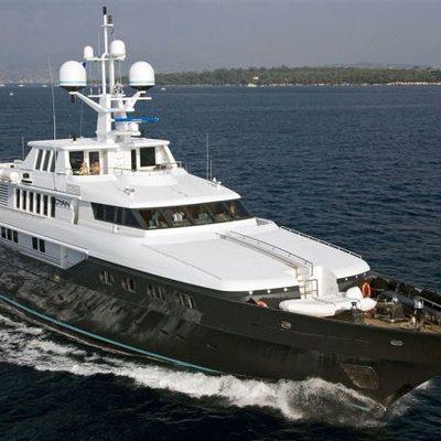 Cyan Yacht Running Shot - Front