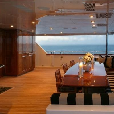 Top Five Yacht Exterior Dining