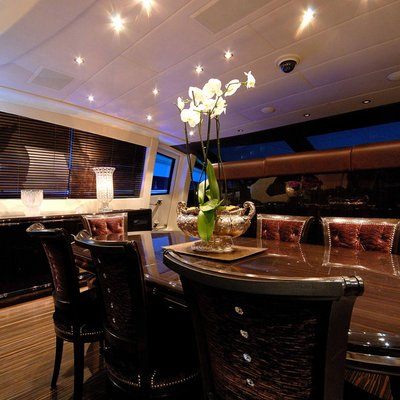 African Cat Yacht Dining Salon