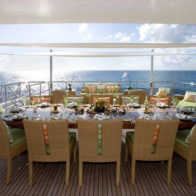 Lady Sheridan Yacht Sundeck Dining