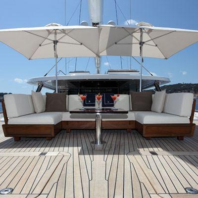 Prana Yacht Aft deck