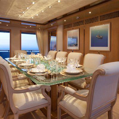 Sunrise Yacht Formal Dining