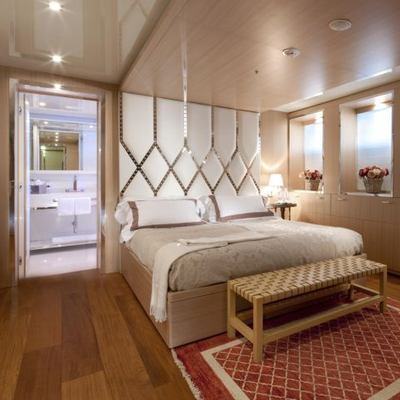 Vicky Yacht Red Stateroom