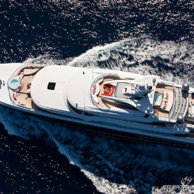 Arience Yacht Aerial View