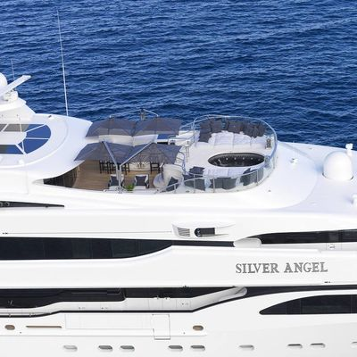 Silver Angel Yacht Side View Close
