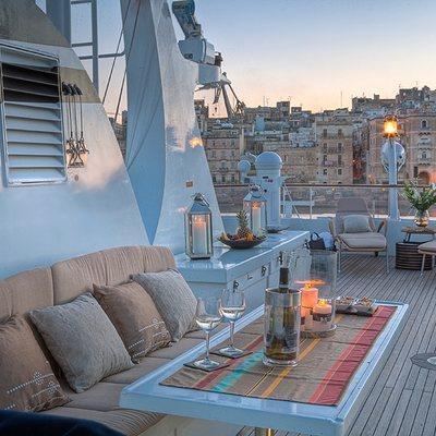 Sanssouci Star Yacht Deck Seating - Sunset