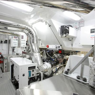 Q Yacht Engine Room