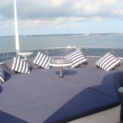 The Devocean Yacht Flybridge Seating