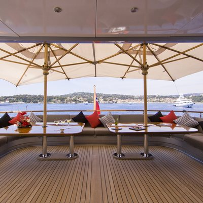 Silver Dream Yacht Bridge Deck DIning