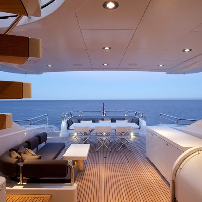 Quantum Yacht Aft Deck Dining