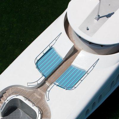 Just Enough Yacht Aerial Forward Sun Deck