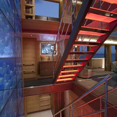 Big Fish Yacht Staircase