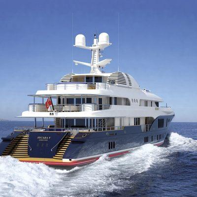 Sycara V Yacht Running Shot - Stern