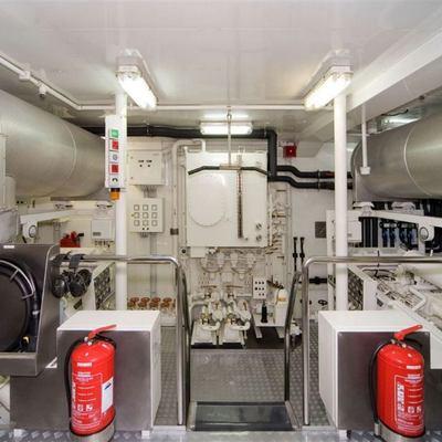 Solaia Yacht Engine Room