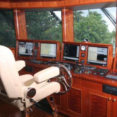 Far From It Yacht Pilothouse - Instruments