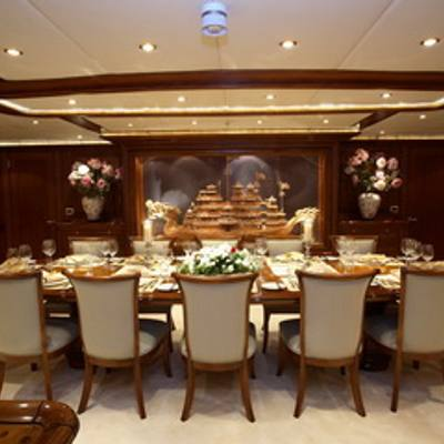 Loretta Yacht Dining Salon -  Side View