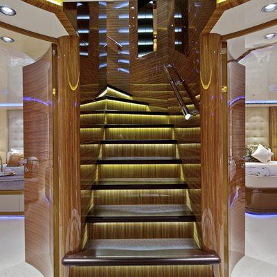 Mia Rama Yacht Stairway